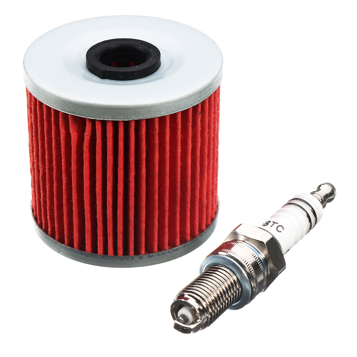 Oil Filter + Spark Plug For Kawasaki KL600 KLX650R KL 6