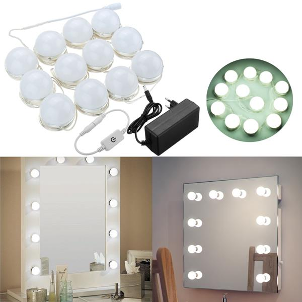4M 12Bulbs White Hollywood Style LED Vanity Mirror Ligh