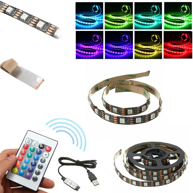 Non-waterproof USB DC5V SMD5050 RGB LED Tape TV Backgro