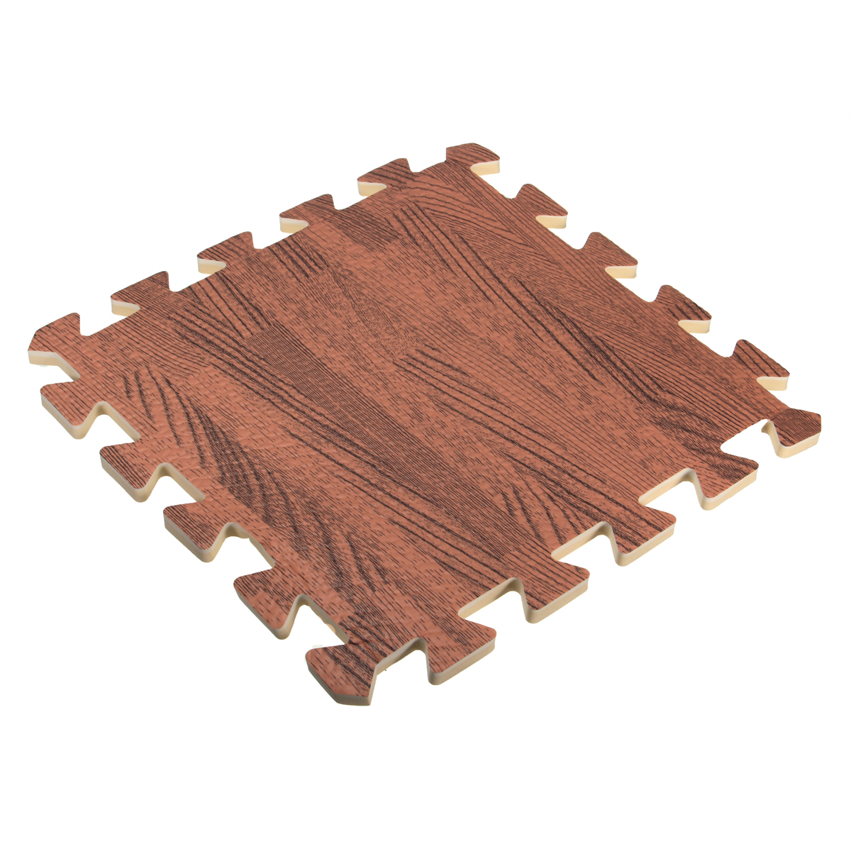 9Pcs 30x30 Square EVA Foam Wood Grain Interlocking Tile