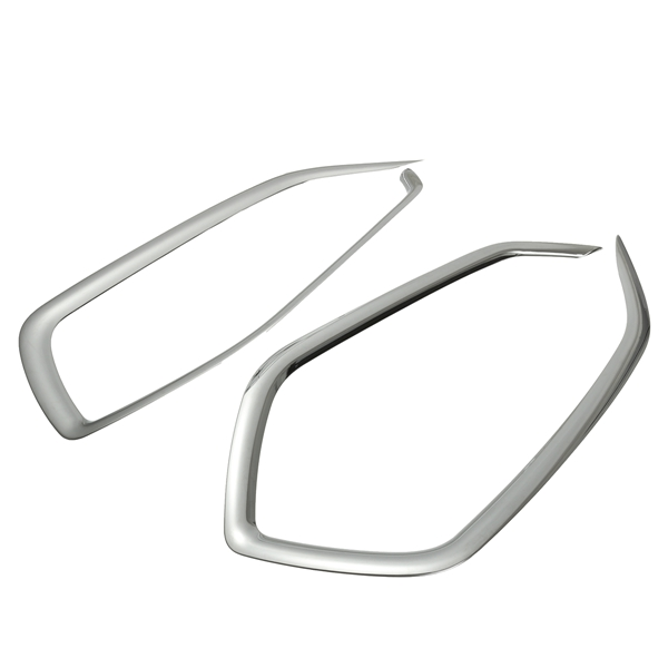 2pcs Chrome Front Fog Light Trim Decoration Cover For H