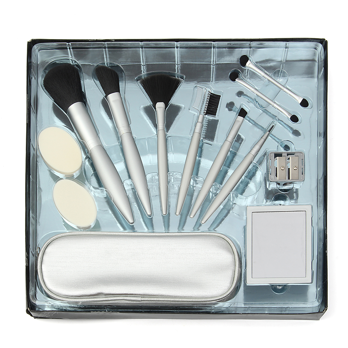 Makeup Brushes Set Kit Sharpener Lip Liner Eye Shadow E