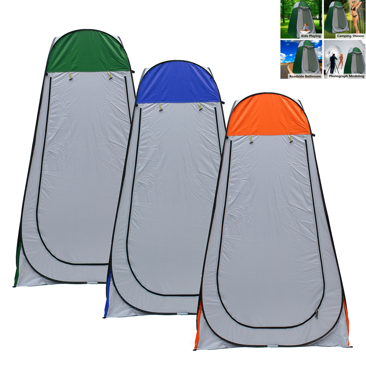 1.2x1.2x1.9m Portable Pop-up Tent Camping Travel Toilet