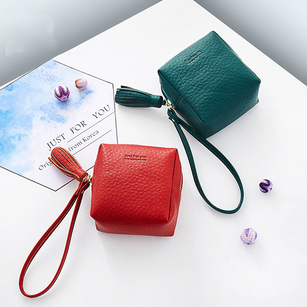 Women Pure Color Simple Coin Bag Card Holder Purse Clut