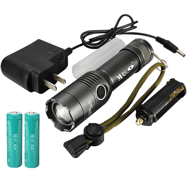 MECO XM-L T6 2000Lumens 3Modes Zoomable LED Flashlight