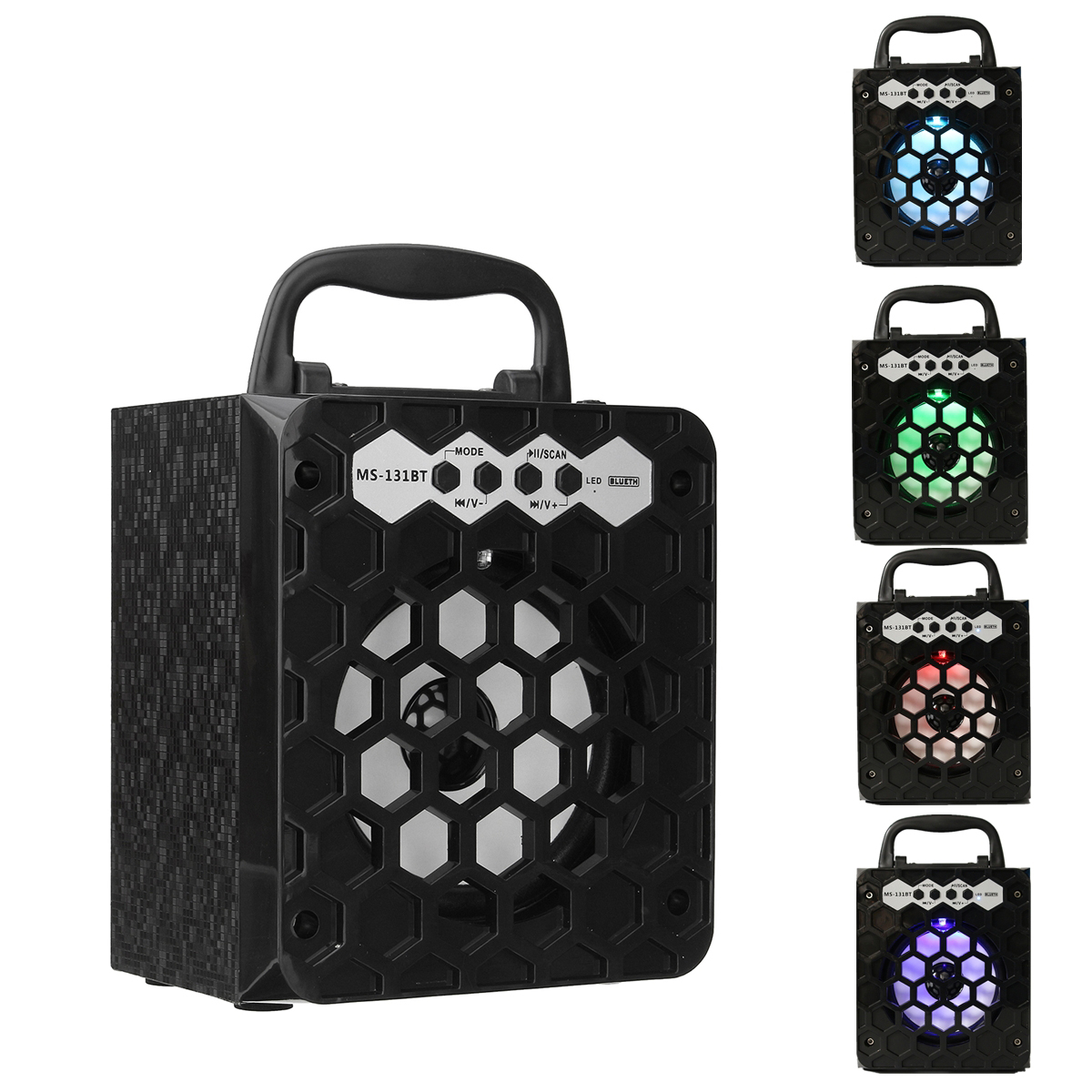 MS-131BT Bluetooth Wireless Portable Speaker Super Bass