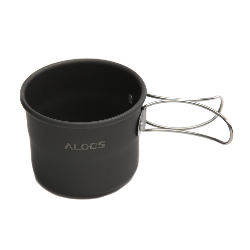ALOCS 150ml Outdoor Cup Portable Camping Picnic Aluminu