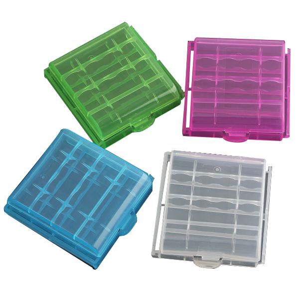 1pcs Plastic Box Case Storage For 4x14500/AA Li-ion Bat