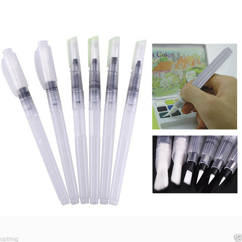 6PCS Capacity Soft Water Color Painting Brush Marker Watercolour Drawing Pen