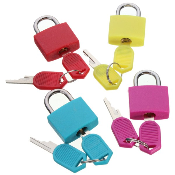 Travel Mini Brass Padlock with 2 keys Set Luggage Suitc