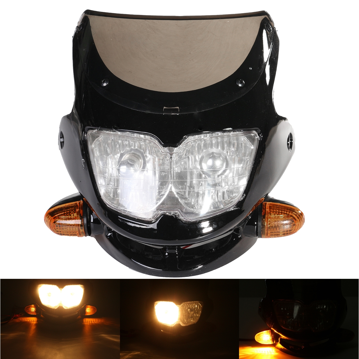 Motorcycle Dirt Bike Streetfighter Headlight Assembly w
