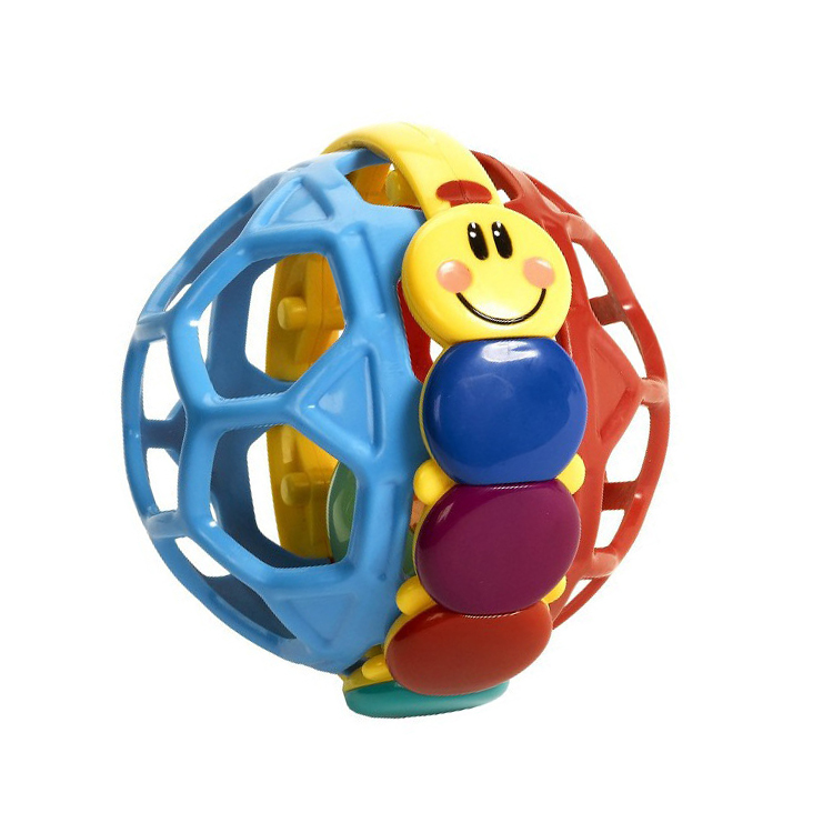 Infant Child Baby Girl Boy Soft Rattles Buzz Bendy Ball Music Bell Education Toys