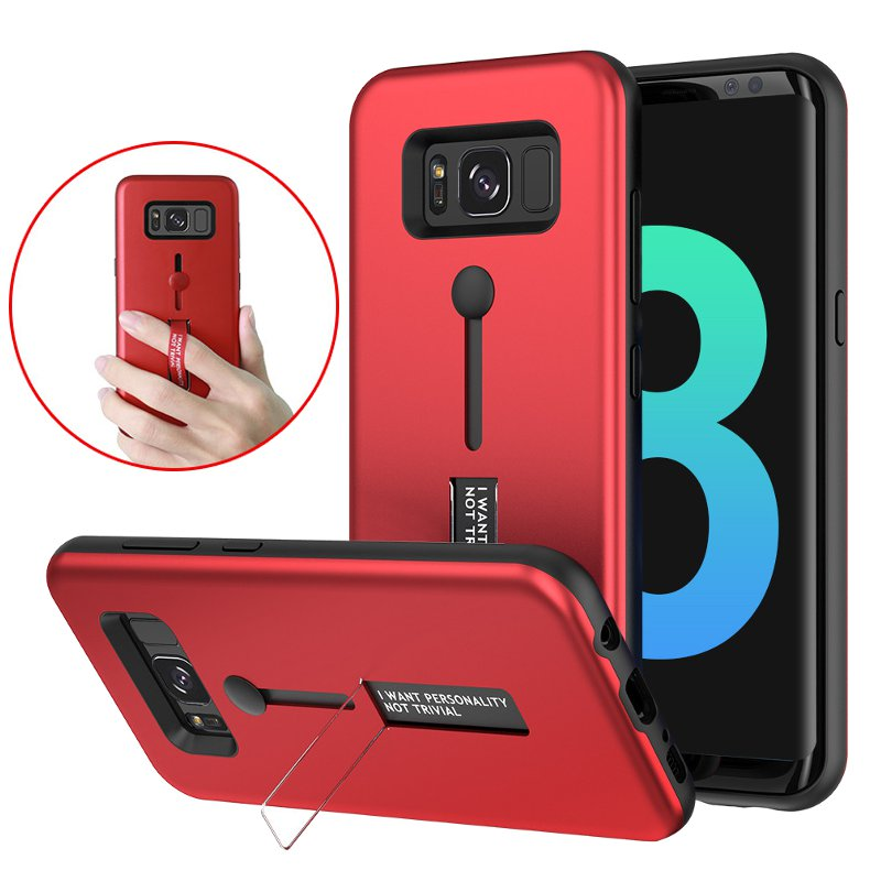 Bakeey Built-in Kickstand Strap Grip PC+TPU Case For Sa