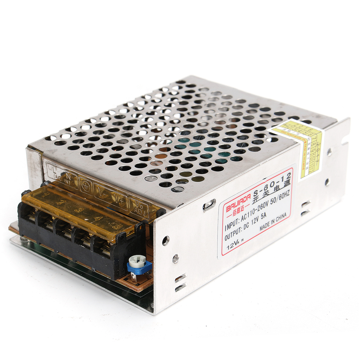 AC 220V To DC 12V 5A 60W Power Supply Lighting Transfor