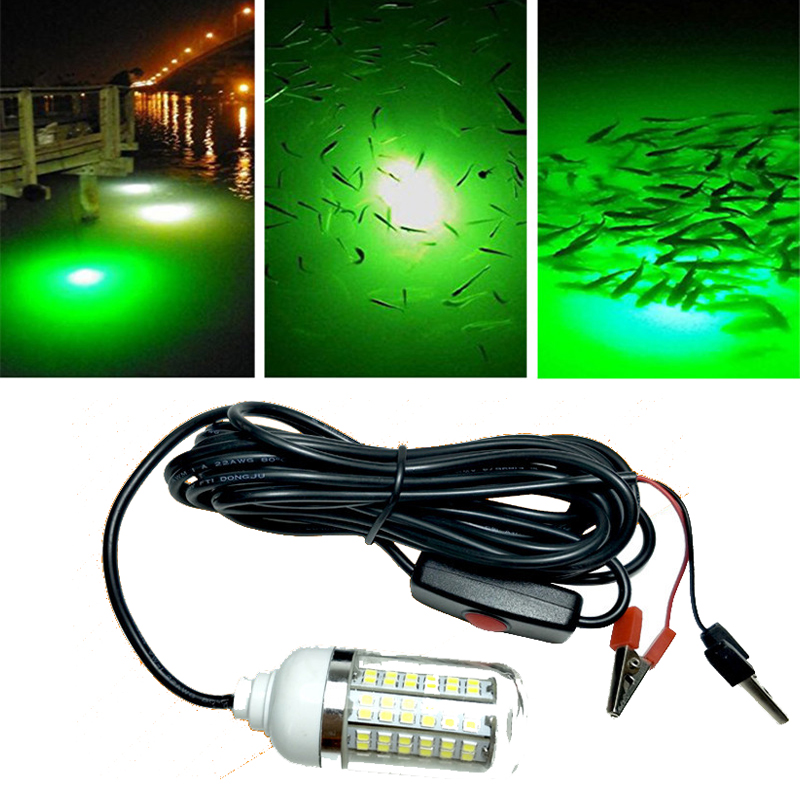ZANLURE 12V 15W Deep Drop Underwater LED Fishing Light