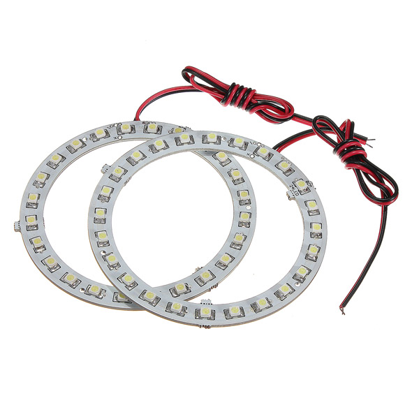 12V White Angel Eyes Headlight for BMW 24SMD LED Ring C