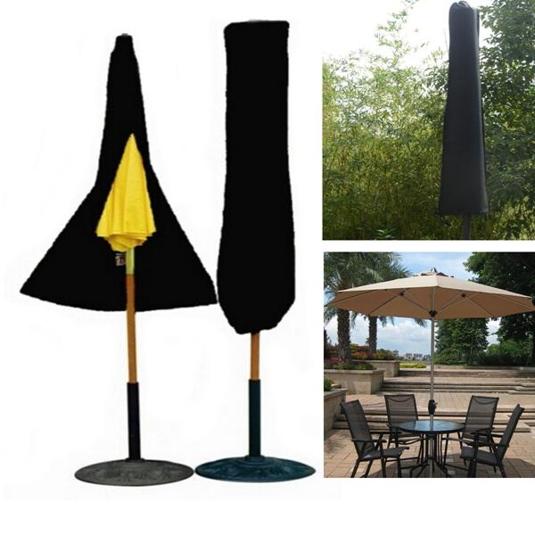 Outdoor Yard Garden Umbrella Parasol Cover Zipper Water