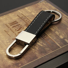 Men's Leather Belt Keyring Keychain