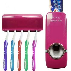 Honana BX-421 Wall Mounted Automatic Toothpaste Dispenser With Five Toothbrush Holder Set Bathroom