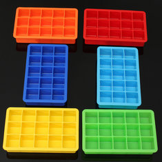 Silicone 15 Square Cube Ice Tray Mold Pudding Jelly Mould Party Bar Multifunction Bar Tools
