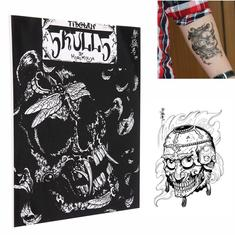 50 Pages Different Skulls Design Skeleton Tattoo Art Book Sketch