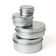 Empty Cosmetic Pot Jar Tin Container 15ml/50ml/100ml/150ml