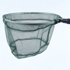 Telescopic Fishing Net Aluminum Pole Foldable Folding Fishing Net Tackle