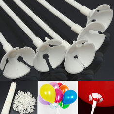 100 Pcs Party Festival Appliance Plastic Balloon Sticks and Cups