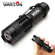 Warsun XP-E 7w 140 Lumens 3 Modes Zoomable LED Flashlight 1xAA