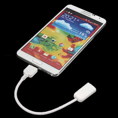 Micro USB 3.0 OTG Cable for Samsung Galaxy Note 3 N9000 - White