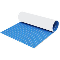 5mm/6mm 1200x2400mm Blue White EVA Foam Boat Flooring Faux Teak Decking Sheet Pad