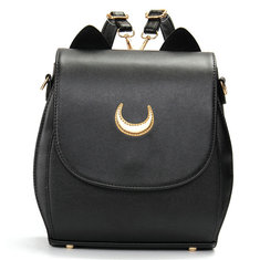 Women Cat Sailor Moon Luna Backpack Girls Cute Cosplay Rucksack School Bags