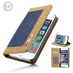 CaseMe Card Wallet Leather Flip Stand Anti-dirt  Case Cover For iPhone 6/6s Plus 5.5 Inch