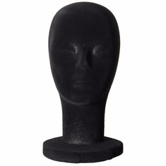 Foam Mannequin Head Black Velvet Styrofoam Wigs Display Model