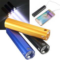 2 in 1 4000mAh USB Power Bank LED Flashlight Battery Charger For Iphone Samsung