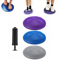 Fitness Yoga Balance Stability Air Cushion Wobble Dis With Pump Keep Fit