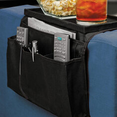 6 Pockets Sofa Handrail Couch Arm Rest Arm Rest Organizer Remote Control Holder Bag