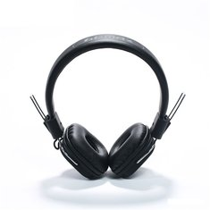 REMAX RM-100H Retractable PU Wired Control Headset Earphone Headphone With Mic