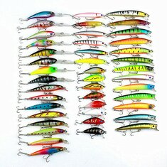 ZANLURE 43PCS 320g Lures Minnow Fishing Lures Spinning River Sea Lakes Baits
