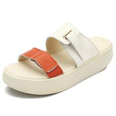 Женская обувь летние случайные квартиры комфортно пляж на открытом воздухе платформы сандалии обувь