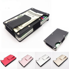RFID Blocking Metal Wallet Slim Minimalist Credit Card Holder Money Clip