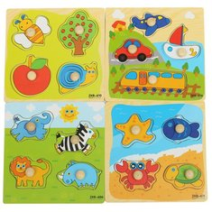 Colorful Wooden Baby Toddler Kids Educational Jigsaw Board Puzzle Alphabet Digit Developmental Panels Fun Toys