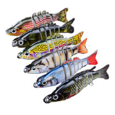 Proberos 6PCS Sections Fishing Lure 10.3cm