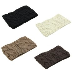 Women Ski Cap Head Band Winter Warm Cap Knitted Hair Band 5 Colors