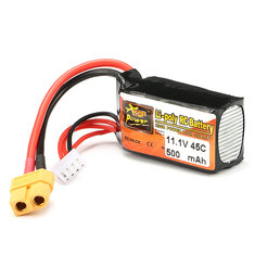 ZOP Power 11.1V 500mAh 45C 3S Lipo Battery XT60 Plug