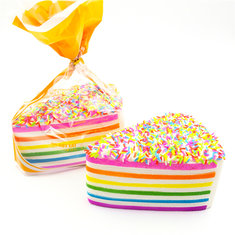 Squishy Fun Jumbo Rainbow Shortcake Slow Rising Cake Collection Original Packaging Gift Decor Toy