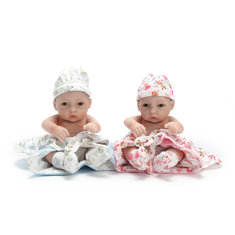 10 Inch Handmade Real Looking Full Vinyl Lifelike Baby Dolls Reborn Baby Twins Christmas Girl Boy Gifts