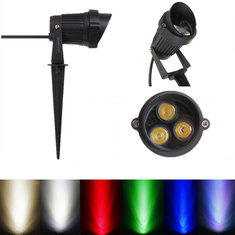 6W LED Flood Spot Light With Rod & Cap For Garden Yard IP65 AC 85-265V