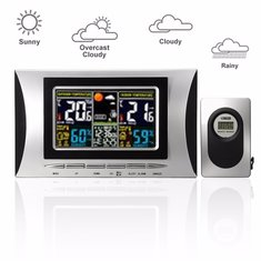 Digital LCD Indoor/Outdoor Wireless Weather Station Clock Calendar Thermometer