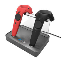 UPARTNER Magnetic Dual Charger Stand Holder For HTC VIVE 3D VR Glassses Wireless Controller